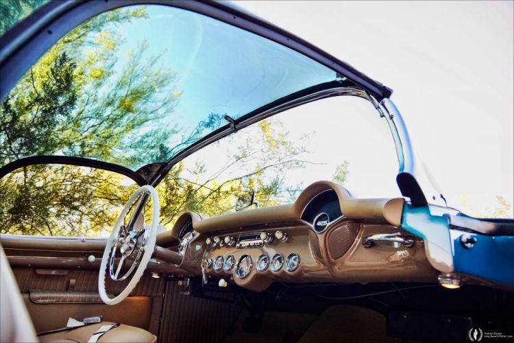 1954 Chevrolet Corvette retro muscle supercar wallpaper
