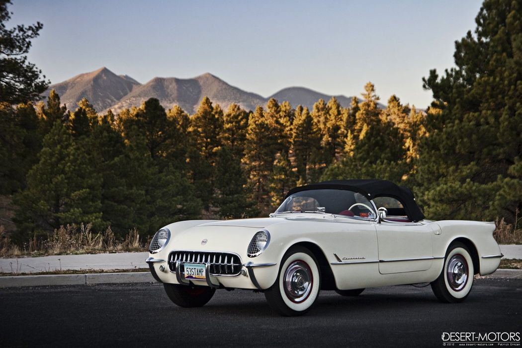 1953 Chevrolet Corvette Noland Adams muscle retro supercar wallpaper