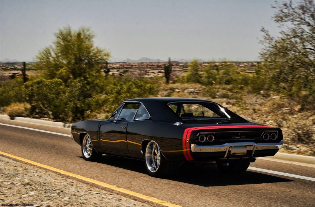 1968 Dodge Charger R T Mopar Muscle Hot Rod Rods Classic Wallpaper
