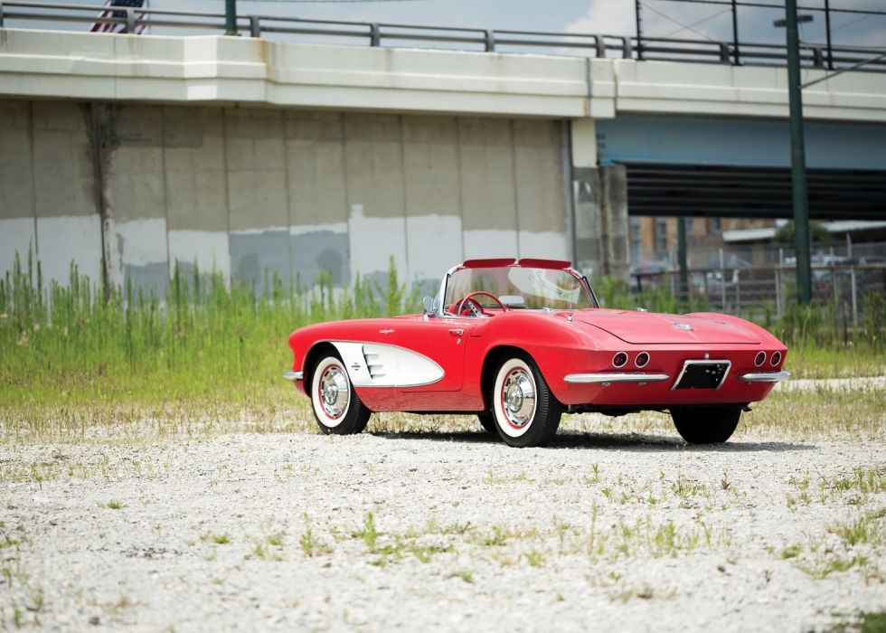 1961 chevy Chevrolet Corvette (c1) 283-290 HP Fuel Injection cars convertible classic wallpaper