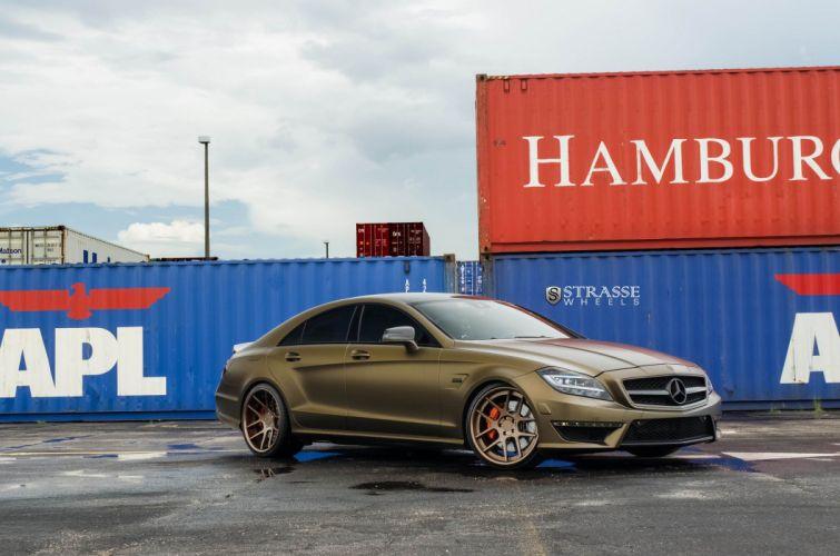 Strasse Wheels Mercedes-Benz CLS63 AMG cars wallpaper