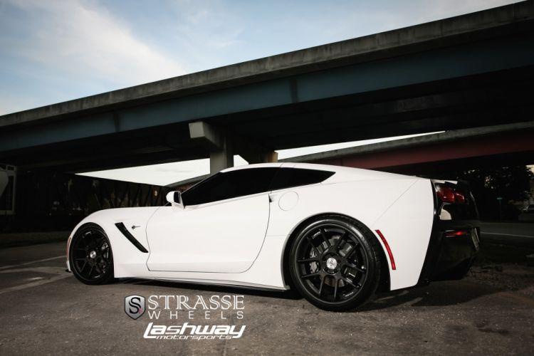 Strasse Wheels Corvette-C7 chevy chevrolet Stingray cars coupe wallpaper