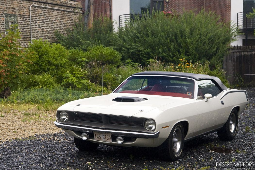 1970 Plymouth Hemi Cuda Convertible muscle classic barracuda wallpaper