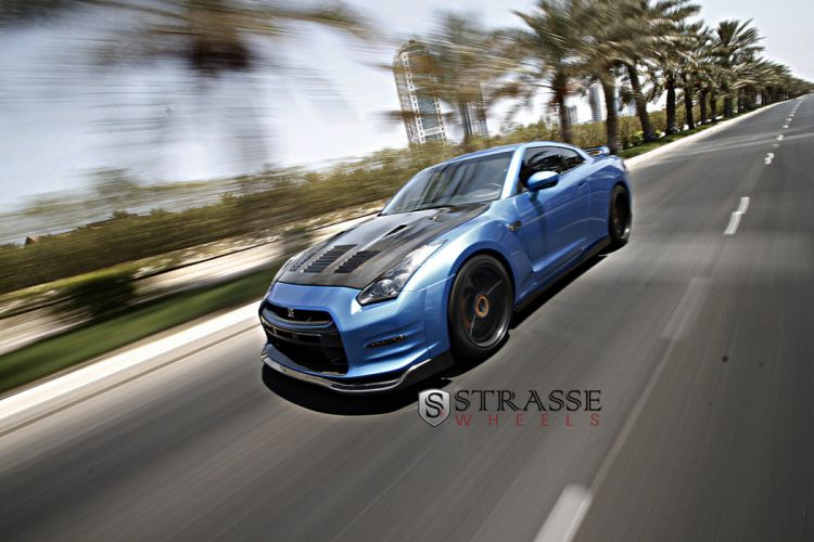 Strasse Wheels nissan gt-r cars coupe wallpaper