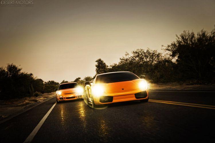 Porsche GT3 R-S Lamborghini Superleggera supercar wallpaper