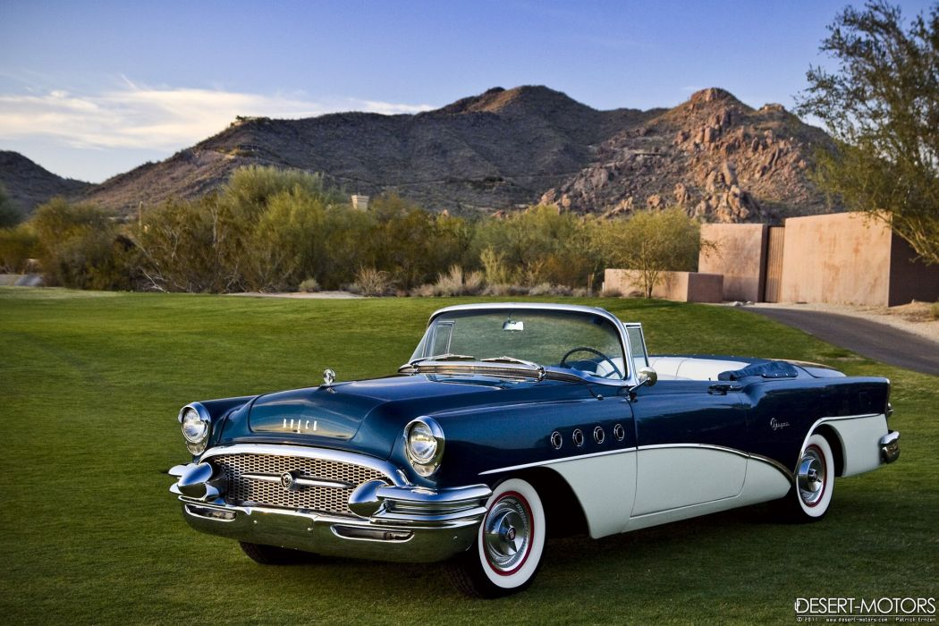 1955 Buick Super Convertible luxury retro wallpaper