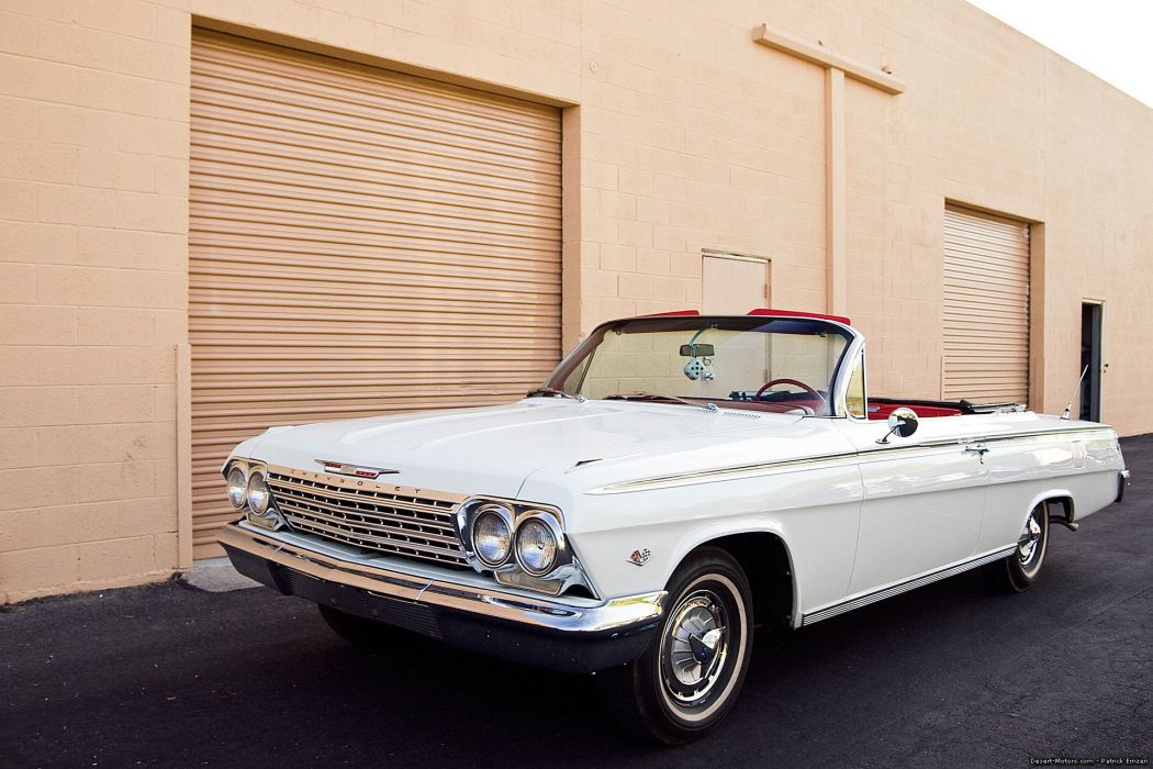 1962 Chevrolet Impala S-S Convertible muscle classic wallpaper