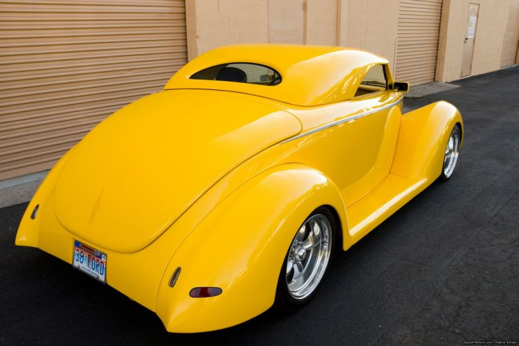 1938 Ford Convertible Hot Rod rods custom vintage wallpaper