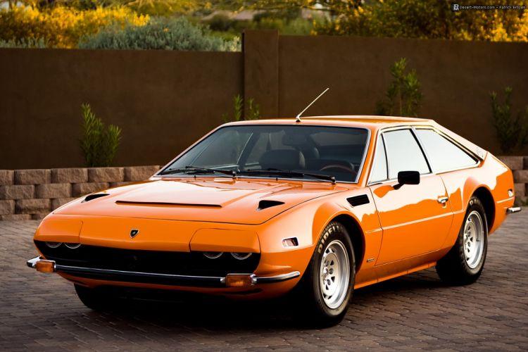 1973 Lamborghini Jarama GTS classic supercar wallpaper