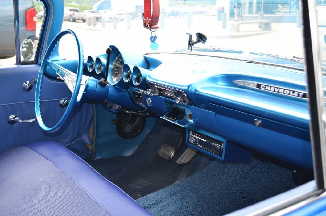 1959 Chevrolet Biscayne custom muscle retro hot rod rods wallpaper