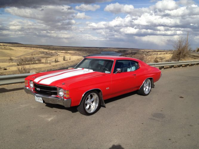 1971 Chevrolet Chevelle S-S muscle classic hot rod rods wallpaper