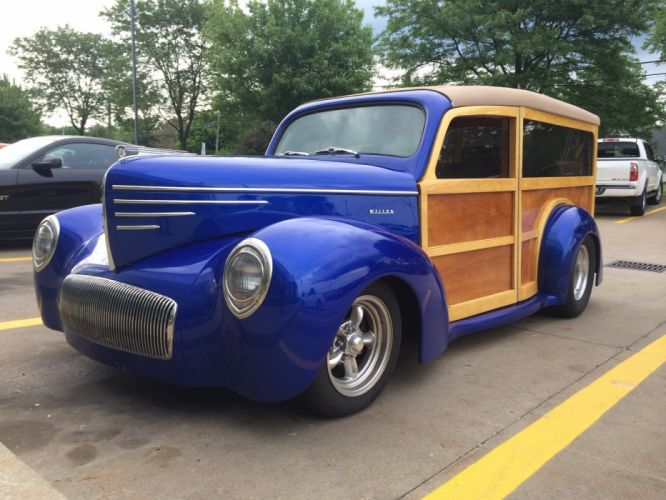 Custom Willys Woodie Wagon hot rod rods stationwagon retro wallpaper