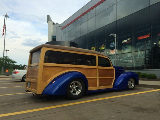 Custom Willys Woodie Wagon hot rod rods stationwagon retro wallpaper