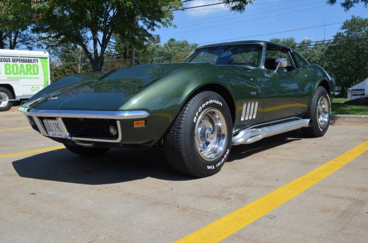1969 Chevrolet Corvette Stingray muscle classic supercar wallpaper