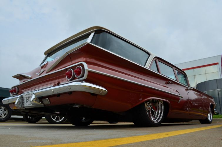 1960 Chevrolet Parkwood stationwagon custom classic hot rod rods wallpaper
