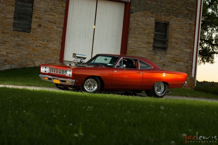 1968 Plymouth Roadrunner muscle mopar classic custom hot rod rods wallpaper