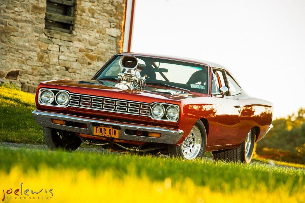 1968 Plymouth Roadrunner muscle mopar classic custom hot rod rods wallpaper