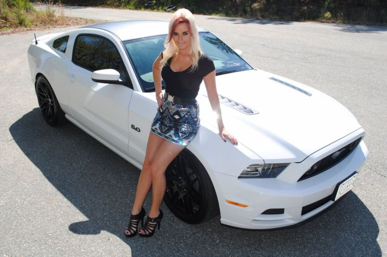 2015 Ford Mustang Supercar Superstreet Ashley Arrington Babe Girl Blondie USA -01 wallpaper