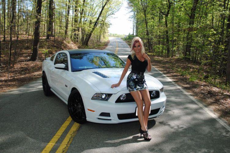 2015 Ford Mustang Supercar Superstreet Ashley Arrington Babe Girl Blondie USA -02 wallpaper