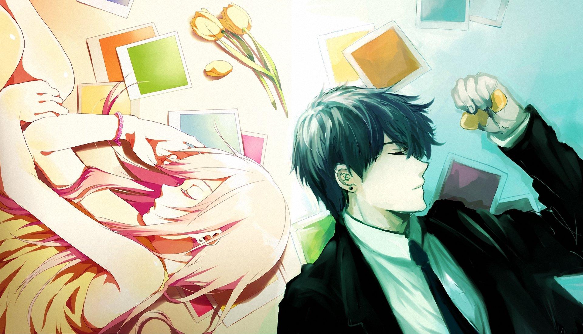 Anime Couple Boy Girl Sleep Wallpaper