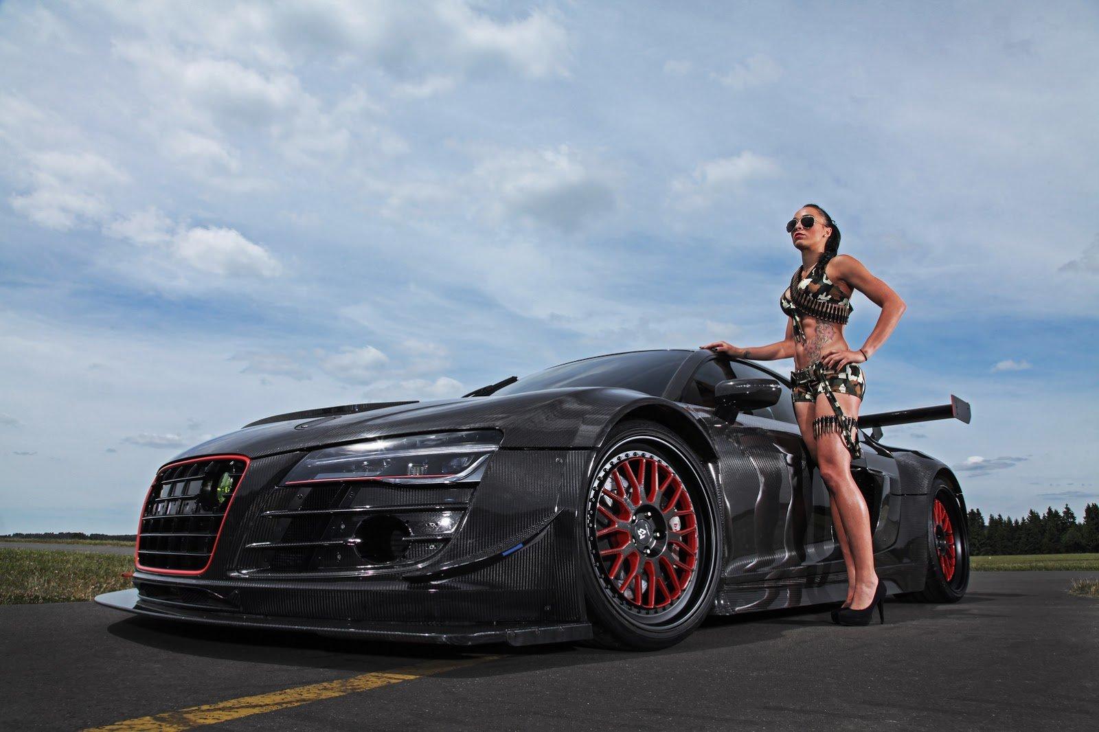 Audi R8 V10 Plus Widebody Cars Carbon Modified Wallpaper
