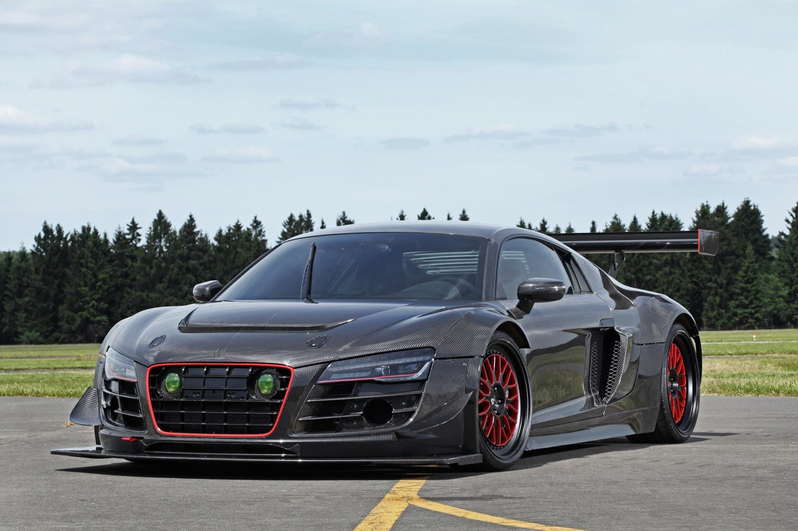 Audi R8 V10 Plus Widebody Cars Carbon Modified Wallpaper