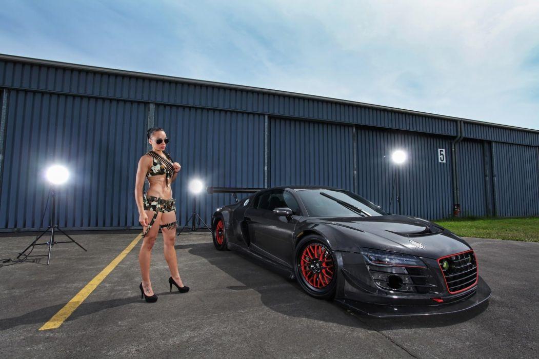 Audi R8-V10 Plus widebody cars carbon modified wallpaper