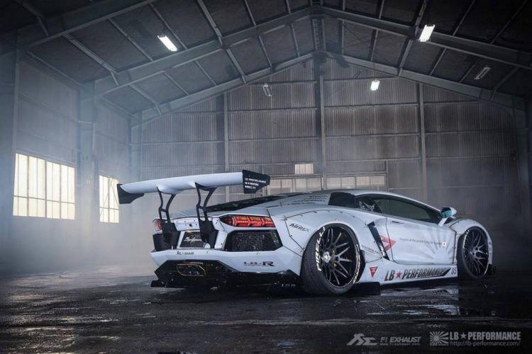 Liberty Walk Zero Fighter Lamborghini Aventador cars modified wallpaper
