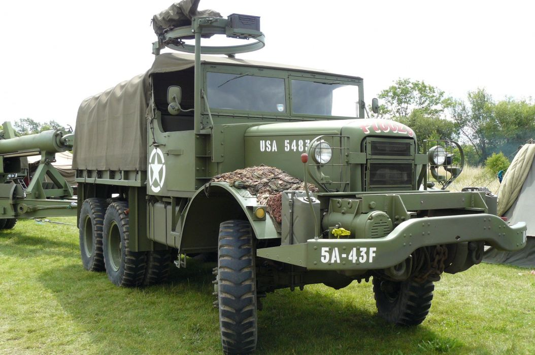MACK semi tractor transport truck military wallpaper