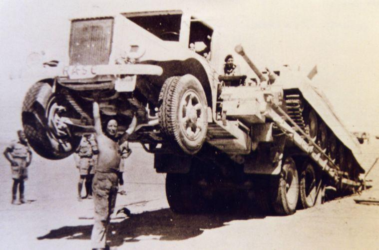 MACK semi tractor transport truck military tank wallpaper