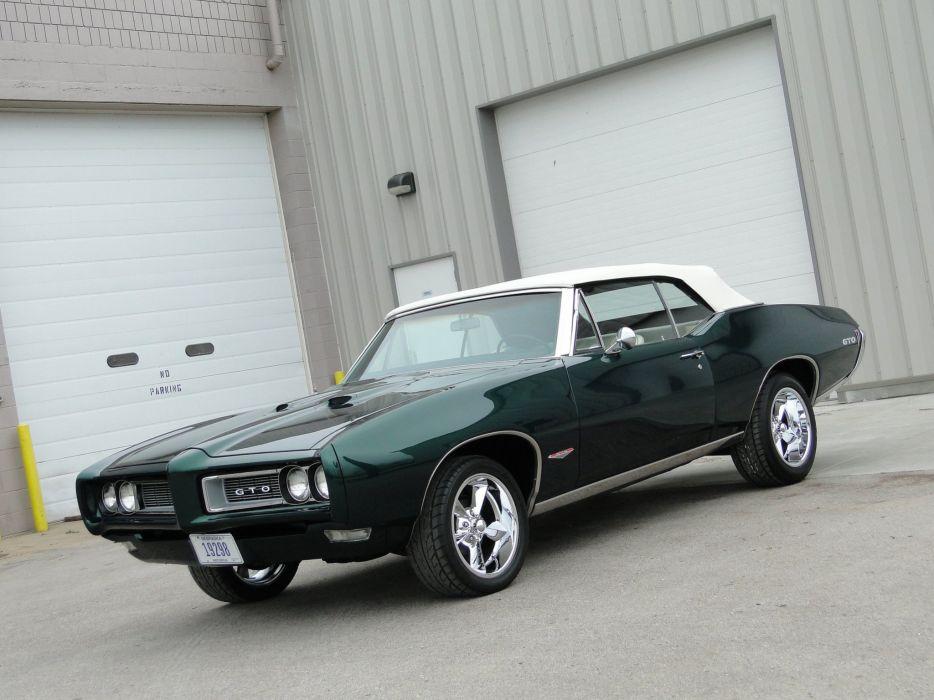 1968 pontiac GTO Convertible cars wallpaper