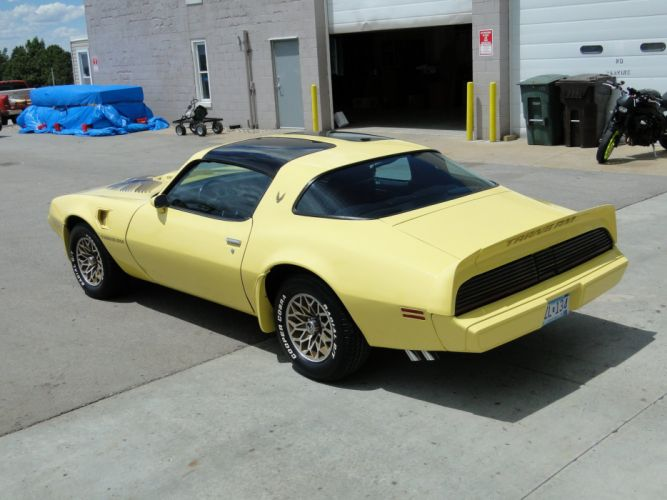 1979 Yellow Pontiac Trans-Am cars coupe wallpaper