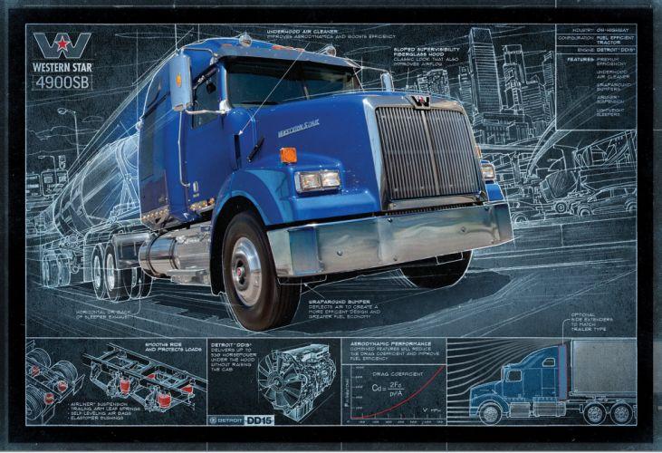 WESTERN STAR semi tractor transport wallpaper