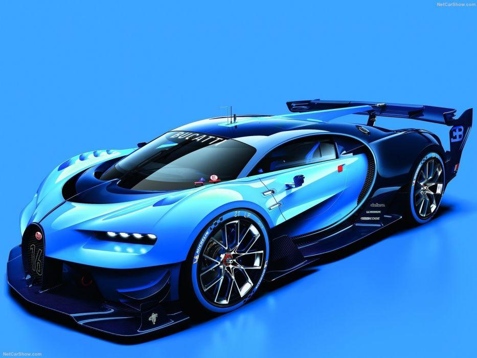 Bugatti Vision Gran Turismo Concept 2015 cars videogames wallpaper