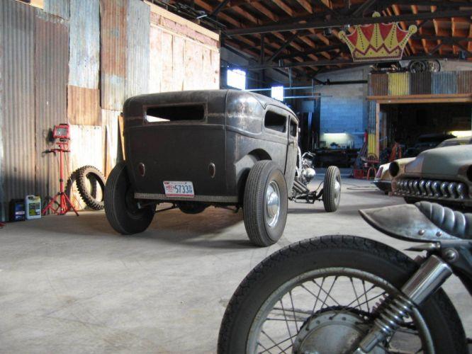 1928 Ford Model-A Rat Rod Hot Rod rods custom vintage wallpaper