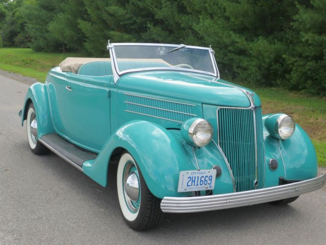 1936 Ford Roadster Convertible vintage wallpaper