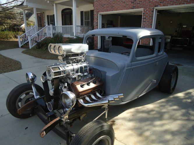 1934 Ford hot rod rods custom vintage wallpaper