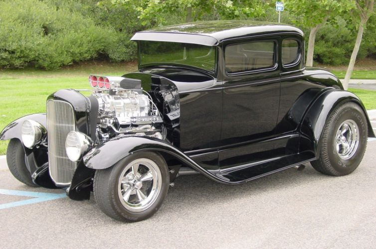 1930 Ford Coupe hot rod rods custom vintage wallpaper