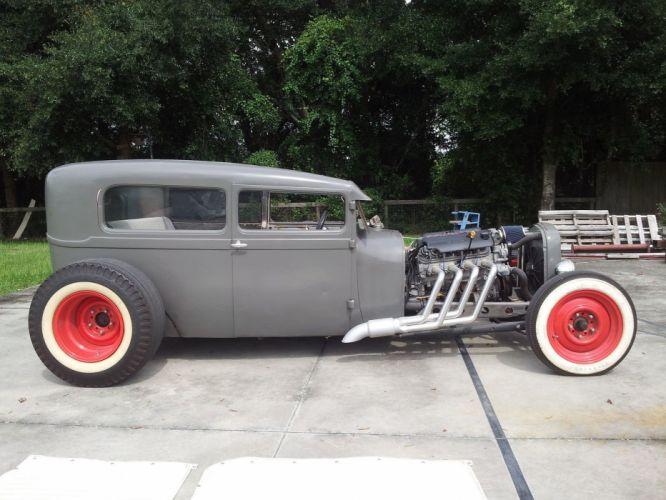 Ford Model-A hot rod rods vintage rat custom wallpaper