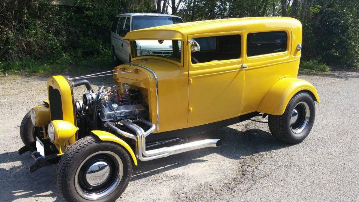 1930 Ford Model-A hot rod rods custom vintage wallpaper