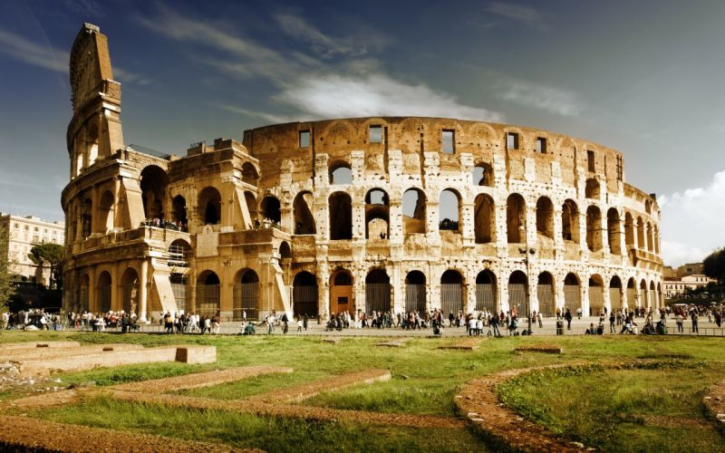 coliseo roma italia wallpaper
