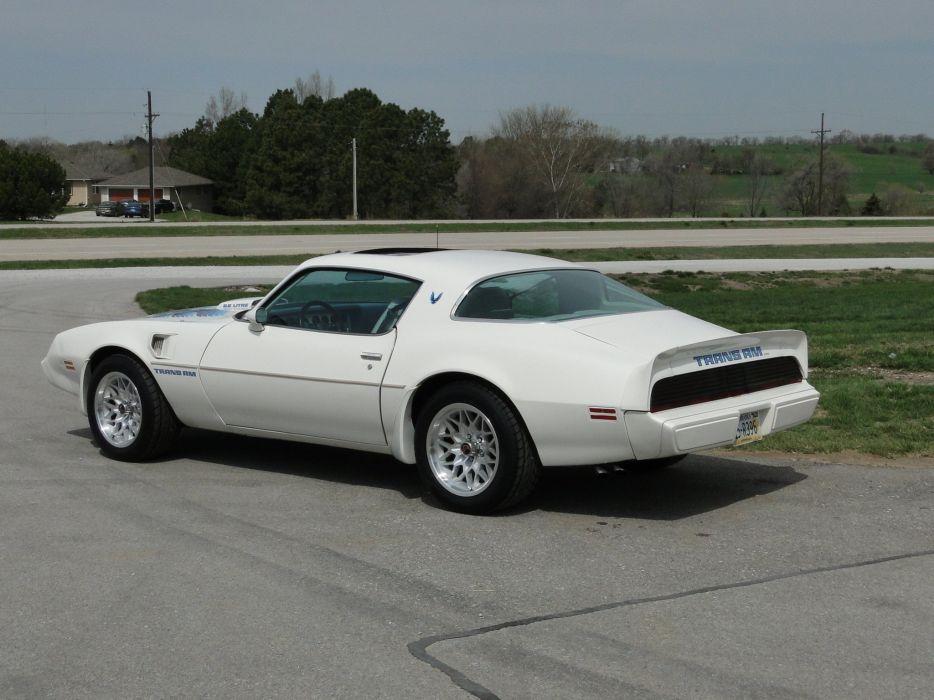 1979 White Pontiac Trans-Am cars coupe wallpaper