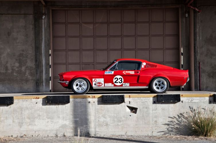1968 Ford Mustang race racing muscle hot rod rods classic wallpaper