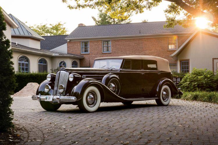 1937 Packard Twelve Convertible Sedan Dietrich 1508-1073 luxury vintage wallpaper