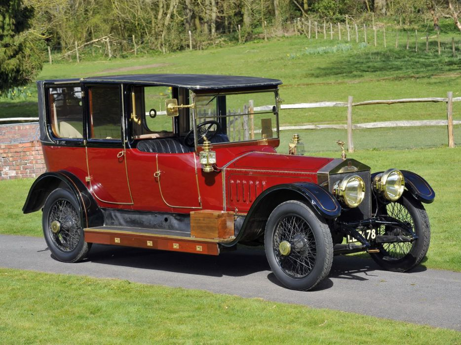 1914 Rolls Royce Silver Ghost 40-50 HP Landaulette Barker luxury vintage wallpaper