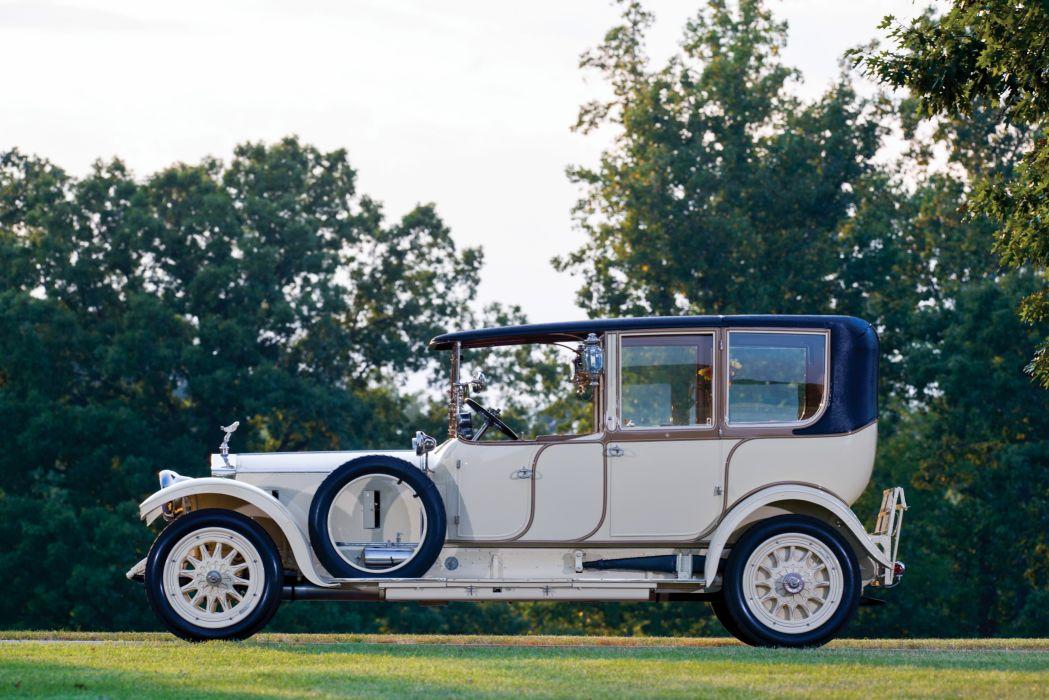 1914 Rolls Royce Silver Ghost 40-50 HP Landaulette Barker luxury vintage wallpaper
