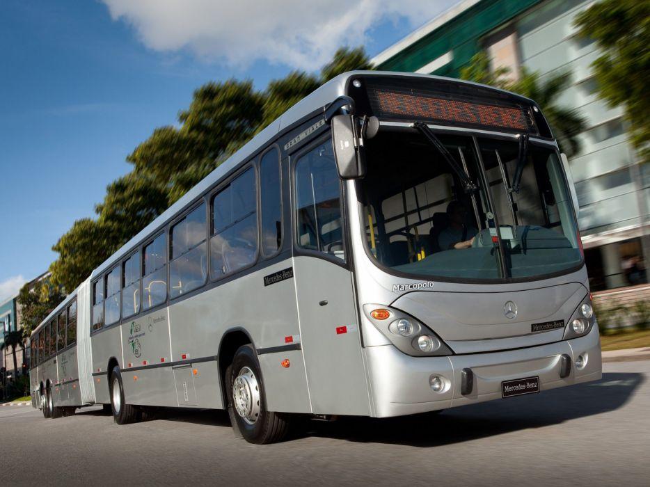 2011 Marcopolo Mercedes Benz O 500 MDA Gran Viale Articulated bus transport semi tractor wallpaper
