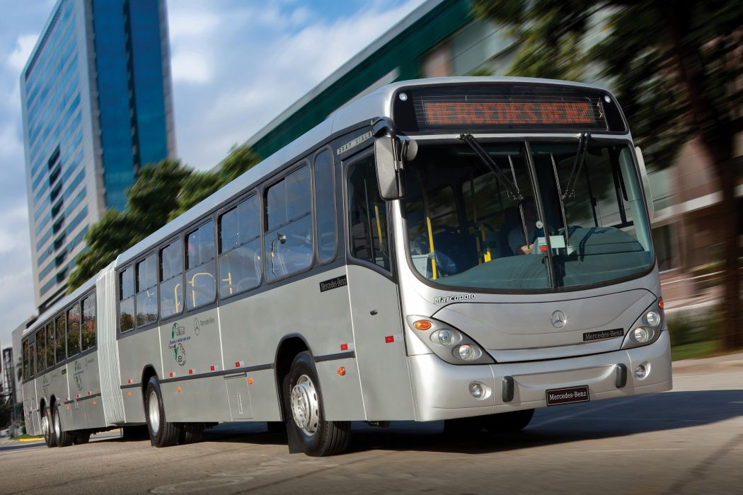 2011 Marcopolo Mercedes Benz O 500 MDA Gran Viale Articulated bus transport semi tractor wallpaper