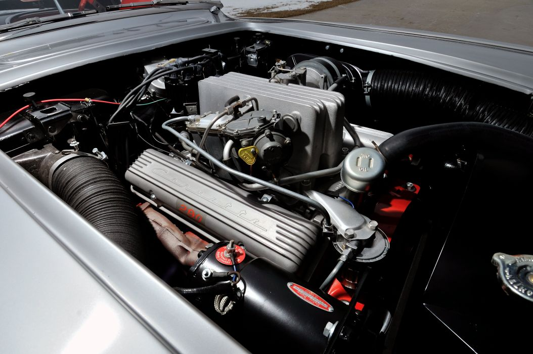 1958 Chevrolet Corvette 283 290HP Fuel Injection Inca-Silver supercar muscle retro wallpaper