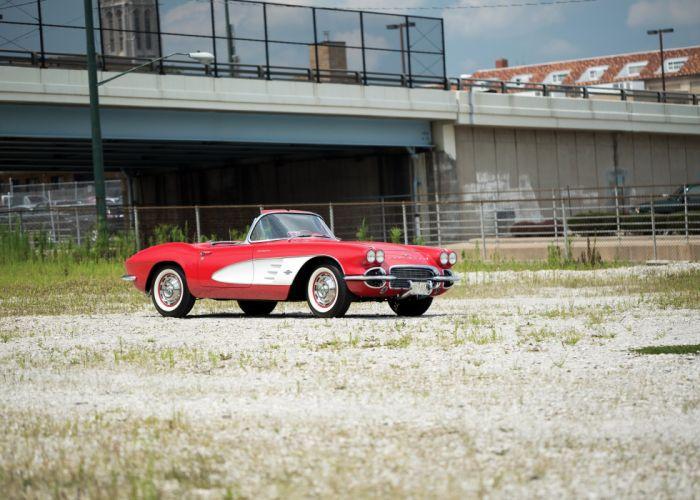 1961 Chevrolet Corvette Fuel Injection 283 315HP 0800-67 supercar muscle retro wallpaper